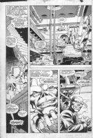 BRIGHT, MARK - Avengers Solo #6 pg, Hawkeye & Peregrine face Red Skull 1988, Comic Art