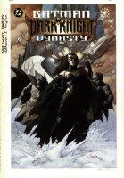 HAMTON, SCOTT - Batman: Dark Knight Dynasty graphic novel cover painting. Past, present and future versions of Batman. Logo on overlay Comic Art