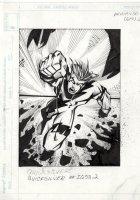 Marvel Overpower Fleer - X-Men's Quicksilver Comic Art