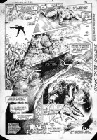 BISSETTE, STEVE & JOHN TOTLEBEN - Swamp Thing #23 pg 10,  3rd Issue of team ! - Swampy origin, splashy montage into face Comic Art
