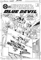 CULLINS, PARIS -  DC Comics Presents #96 cover: Superman, Blue Devil, Terraman  Comic Art