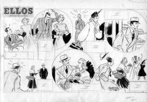 SALINAS, JOSE LUIS - Ellos1949 Sunday Comic Art
