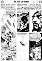 KUBERT, JOE - Brave & Bold #36 2-up pg 11, 3rd Silver-age Hawkman & Hawk-Girl + Shadow-Thief  Comic Art