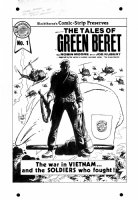 KUBERT, JOE - Tales of the Green Beret #1 cover (w/o Helicopter overlay) for his 1960's comic strip series, 1985 Comic Art