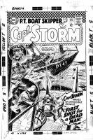 NOVICK, IRV / JOE KUBERT - Captain Storm #17 large Go-Go-Chex cover, leader of DC Losers team member, JFK inspired, 1966-67 Comic Art