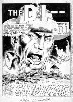KUBERT, JOE - G I Combat #56 large pg 1, splash, DI & Sandfleas, Sgt Rock prototype Comic Art