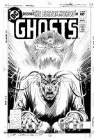 KUBERT, JOE - GHOST #111 cover, Professor Burton & mental demon 1981 Comic Art