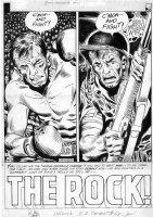 KUBERT, JOE - GI Combat #68 large pg 1 splash  The Rock , 1st Sgt Rock or key Sgt Rock prototype Comic Art
