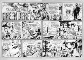 KUBERT, JOE - Tales of Green Beret Daily 10/1 1967 Comic Art
