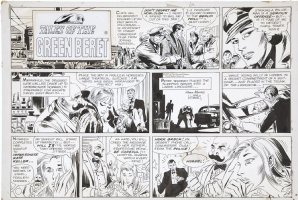 KUBERT, JOE - Tales of Green Beret Sunday 1967 Chris Tower & Commissar Olga in Berlin + spies Comic Art