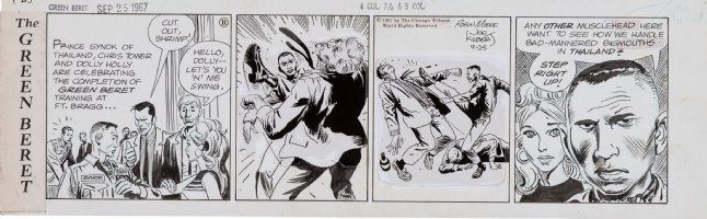 KUBERT, JOE - Tales of Green Beret daily. 9/25 1967, Berets Chris & Prince Synok save blonde Dolly Comic Art