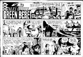 KUBERT, JOE - Tales of Green Beret Sunday 8/14 1966, Beret hero & protest in Saigon Comic Art