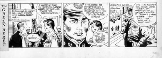 KUBERT, JOE - Tales of Green Beret daily, 10/14 1967, Beret HQ in Thailand Comic Art