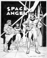 TOTH, ALEX - Space Angel promotional poster color art Comic Art