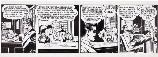 FINE, LOU & JACK COLE - Spirit daily 12/20 1943? Spirit & Commish Comic Art
