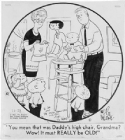 KEANE, BILL - Family Circus daily 1967 Comic Art