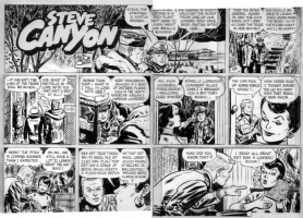 CANIFF, MILTON - Steve Canyon 1950s Sunday - Comic book theme Comic Art