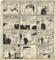 CAPP, AL - Lil' Abner 12-25-1949 Sunday (Fearless Fosdick) Christmas Sunday Comic Art