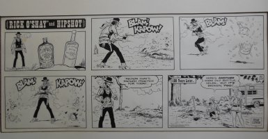 LYNDE, STAN - Rick O'Shay and Hipshot Sunday, classic example! 10-20-74 Comic Art