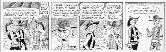 LYNDE, STAN - Rick O'Shay daily 8/25/59 Comic Art
