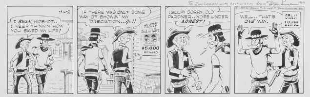 LYNDE, STAN - Rick O'Shay Daily 1959 Comic Art