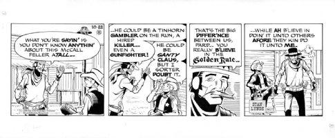 LYNDE, STAN - Rick O'Shay daily, Rick & Hipshot  10/22 1968 Comic Art