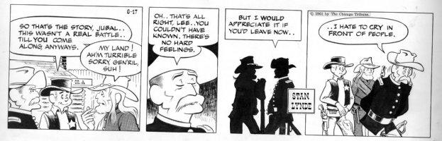 LYNDE, STAN - Rick O'Shay daily, Rick and old Generals 6/17 1961 Comic Art