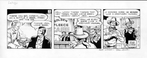 LYNDE, STAN - Latigo daily 3-23-81 Comic Art