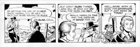 LYNDE, STAN - Latigo daily 5-26-80 Comic Art