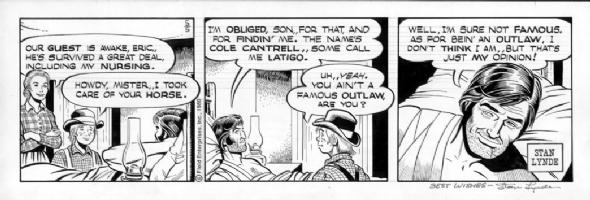 LYNDE, STAN - Latigo daily 5-5-80 Comic Art