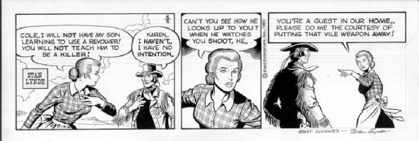 LYNDE, STAN - Latigo daily 6-5-80 Comic Art