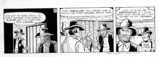 LYNDE, STAN - Latigo daily 8-17-81 Comic Art