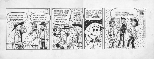 LYNDE, STAN - Rick O'Shay daily, Rick hunted 11/28 1958 Comic Art
