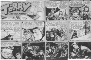 CANIFF, MILTON - Terry & the Pirates 1946 Sunday Comic Art