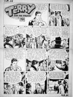 CANIFF, MILTON - Terry and the Pirates sunday 2-22-42 Comic Art