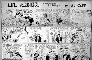 FRAZETTA, FRANK / AL CAPP: Lil' Abner 7-29 1956, Eagle-Eye Fleegle, good-girl art Comic Art