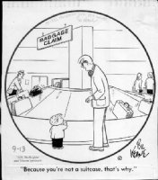 KEANE, BIL - The Family Circus daily 1975, airport Comic Art