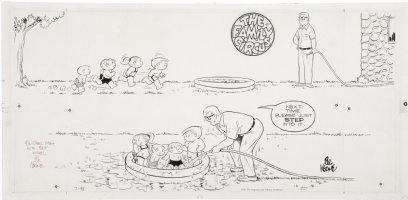 KEANE, BIL - The Family Circus Sunday 7-15 1973 Comic Art