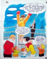 KEANE, BILL: The Family Circus; rare full color Bil Keane art for ad Comic Art