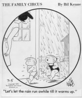 KEANE, BILL - The Family Circus 7/5-1979 daily Comic Art