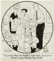 Keane, Bill - The Family Circus daily 11-22 1967 Comic Art