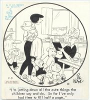 KEANE, BILL - The Family Circus 2/5-1971 daily - inscribed Comic Art
