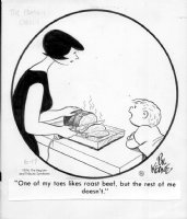 KEANE, BILL - The Family Circus daily 6-17-1974 Comic Art