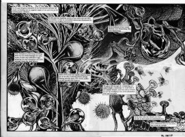 TOTLEBEN, JOHN - Alan Moore's Swamp Thing #60 double splash pgs 18-19 Issue 60 Page 18,19 Comic Art