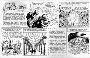 FINE, LOU - Space Conqueror's Sunday / Boys Life Mag. - with space-suits on alien world Comic Art