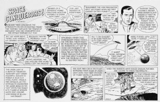 FINE, LOU - Space Conqueror's Sunday / Boys Life Mag. - Flying Saucer space talk 6-1964 Comic Art