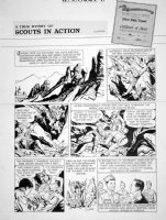 FINE, LOU - Boy's Life Mag. full page Sunday - Scouts in Action Oct. 1963 Comic Art