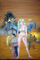 Morrow, Gray - Sheena, Marvel movie magazine cover painting Comic Art