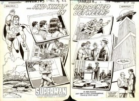 Swan, Curt/ Kurt Schaffenberger - Superman Lost Years promo double spread Comic Art