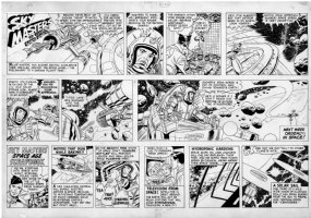 KIRBY, JACK / WALLY WOOD - Skymasters Sunday, 2-22 1959 Comic Art